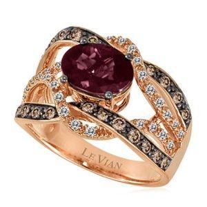 Le Vian Raspberry Rhodolite Ring in 14K